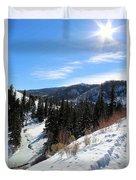 Mountain Sun Duvet Cover