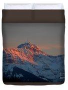 Mountain Sunset In Switzerland Duvet Cover