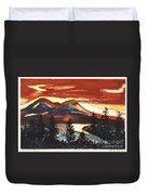 Mountain Sunset Duvet Cover
