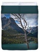 Mountain View At Glacier National Park Duvet Cover