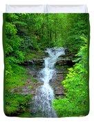 Mountain Waterfall I Duvet Cover