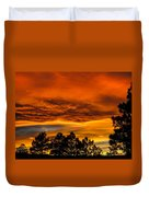 Mountain Wave Cloud Sunset With Pines Duvet Cover