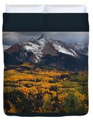 Mountainous Storm Duvet Cover