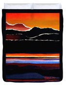 Mountains Abstract Duvet Cover