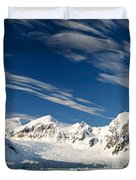 Mountains And Glaciers, Paradise Bay Duvet Cover