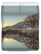 Mountains And Trees Duvet Cover