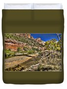 Mountains And Virgin River - Zion Duvet Cover