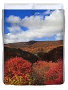 Mountains At Graveyard Fields Duvet Cover