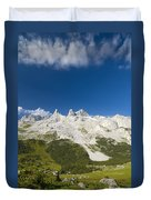 Mountains In The Alps Duvet Cover