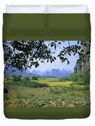 mountains near Yangshou and Guilin  Duvet Cover