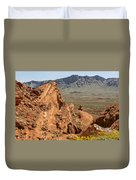 Mountains Of Fire Duvet Cover