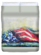Mountains Of Freedom Duvet Cover