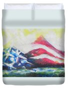 Mountains Of Freedom Two Duvet Cover