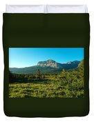 Mountains Of Many Glacier Duvet Cover