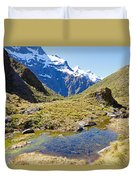 Mountains Of New Zealand Duvet Cover