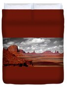Mountains, West Coast, Monument Valley Duvet Cover