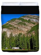 Mountains West Of Kicking Horse Campground In Yoho Np-bc Duvet Cover