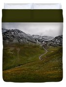 Mountainscape With Snow Duvet Cover
