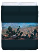 Mourning Dove Desert Sands Duvet Cover
