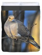 Mourning Dove On Limb Duvet Cover