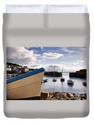 Mousehole Harbour On A May Morning Duvet Cover
