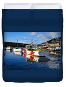 Mousehole Harbour Duvet Cover