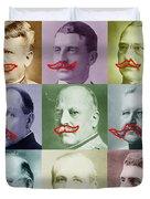 Moustaches Duvet Cover by Tony Rubino