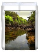 Mouth Of The Brook - Calm - Shallow Water Duvet Cover