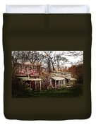 Movie Set Abandoned Western Town Duvet Cover