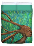 Moving Past The Nature Of Myself Duvet Cover