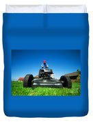 Mowing The Lawn Duvet Cover