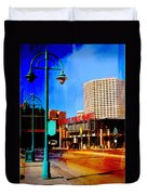 Mpm And Lamp Post Abstract Painting Duvet Cover