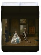 Mr And Mrs Atherton Duvet Cover
