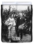 Mr. And Mrs. Luther Burbank Duvet Cover
