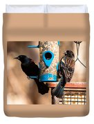 Mr. And Mrs. Red Winged Blackbird Duvet Cover