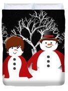 Mr And Mrs Snow 1 Duvet Cover