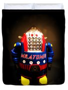 Mr. Atomic Tin Robot Duvet Cover by Edward Fielding