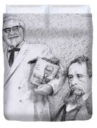 Mr Chicken And Mr Dickens Duvet Cover