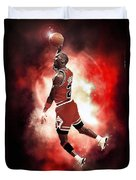 Mr. Michael Jeffrey Jordan Aka Air Jordan Mj Duvet Cover