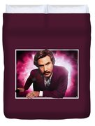 Mr. Ron Mr. Ron Burgundy From Anchorman Duvet Cover