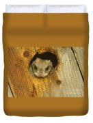 Mr Squirrel Answers The Door  Duvet Cover