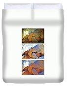 Mr. Tortoise Vertical Triptych Duvet Cover