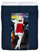 Mrs Santa Manequin Duvet Cover