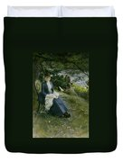 Mrs Symons In Scotland Duvet Cover