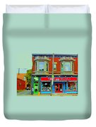 Mrs Tiggy Winkle's Toy Shop And Lost Marbles Richmond Rd The Glebe Paintings Ottawa Scenes C Spandau Duvet Cover