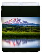 Mt Adams Sunset Duvet Cover