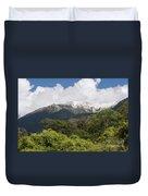 Mt. Aspiring National Park Mountains Duvet Cover