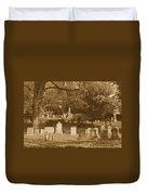 Mt Auburn Cemetery 13 Sepia Duvet Cover
