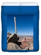 Mt. Bierstadt Summit Duvet Cover