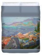 Mt. Desert From Schoodic Point Duvet Cover